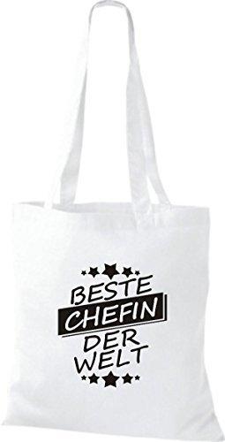 ShirtInStyle Bolso de tela Bolsa de algodón Mejor CHEFIN der Welt blanco