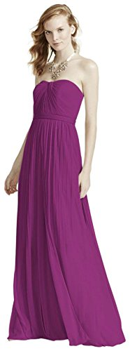 Raspberry Bridesmaid Mesh Bridal Versa Convertible Dress s F15782 Style David BqHUK