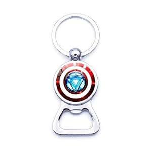 Amazon.com: Iron Man Tony Stark llavero abrebotellas Marvel ...