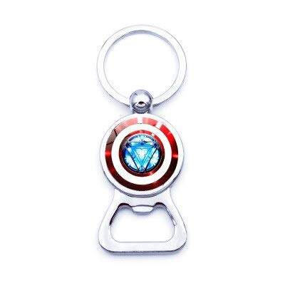 Amazon.com: Iron Man Tony Stark llavero abrebotellas Marvel ...