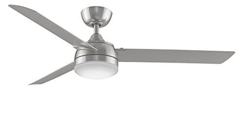 Fanimation Xeno - 56 inch - Brushed Nickel with Brushed Nickel Blades and LED Light Kit with Bluetooth Control with Remote  - FP6728BN
