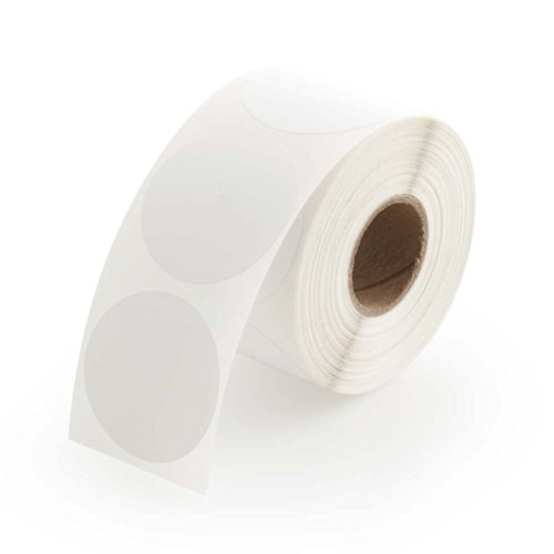 White Round Color Coding Inventory Labeling Dot Labels / Stickers - 1.5 Inch Round Labels 500 Stickers Per Roll