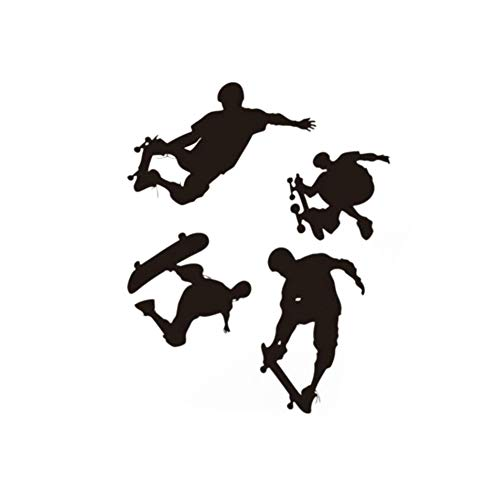 Alamana Cool Skateboard Boy Wall Sticker Decal for Kids Bedroom Wall Decals Stickers Decoration