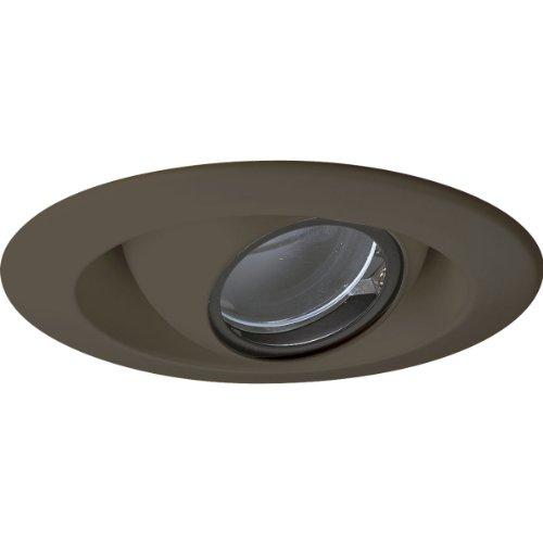 Progress Lighting P8057-20 Eyeball Trims That Have 360 Degree Positioning Lamps That Tilt 30 Degrees Maximum with 5-Inch Outside Diameter, Antique Bronze 20 Antique Bronze Baffle