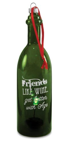 Pavilion Gift Company Wine All The Time 22044 Wine Bottle, Friends, 7-Inch