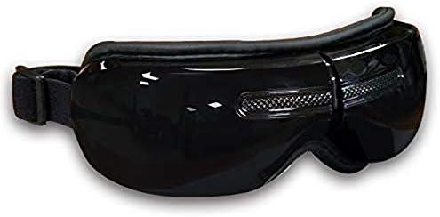 アイケアマッサージャー、音声ガイダンス、恒温、空気圧振動療法アイズケアマッサージャーアイエレクトリックマッサージャー(ブラック)