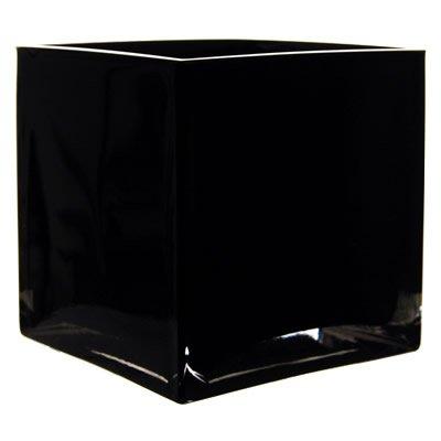 Amazon 475 Cube Vases Bulk Black Glass 12 Pcs Garden