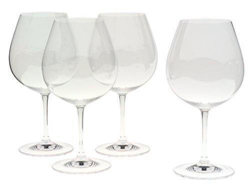 Riedel Accanto Lead Free Crystal 24.75 Oz Pinot Noir Red Wine Glasses Set of 4 by Riedel