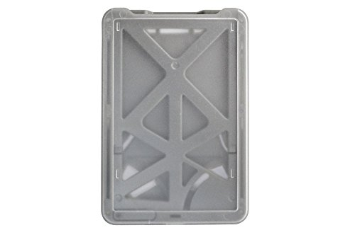 Top Loading Vertical Rigid Plastic 3-Card Badge Holder with Clear Frosted Finish by Alliance ID (Metallic Gray) (Badge Brady Holder)