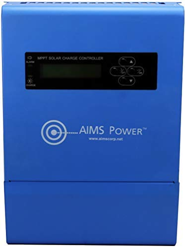 Aims Power SCC40AMPPT 40 Amp MPPT Solar Charge Controller; Charges 12, 24, 36 and 48 Volt Solar Systems; 4 Stage Charging; Battery Type Selector; Stackable; Over Temp Protection by Aims