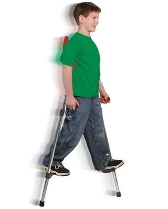 The Original Walkaroo JR. Lightweight Stilts (Aluminum) with Ergonomic Design by Air Kicks, 110 Lbs. Max]()