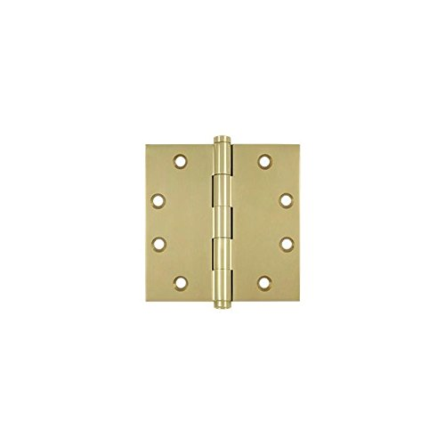 Deltana DSB453-UNL Solid Brass 4 1/2-Inch x 4 1/2-Inch Square Hinge