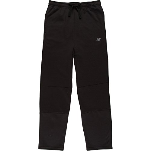 New Balance Big Boys' Fleece Pant, Black, 18/20 (Boys Sweatpants Size 18)