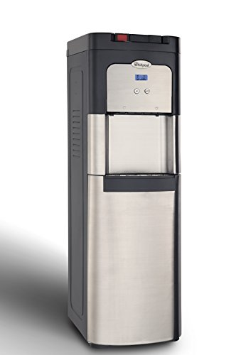 Whirlpool Self Cleaning, Bottom Loading Commercial Water Cooler, Digital Temperature Control, Ice Chilled Water, Steaming Hot, Full Stainless Steel Water Dispenser -