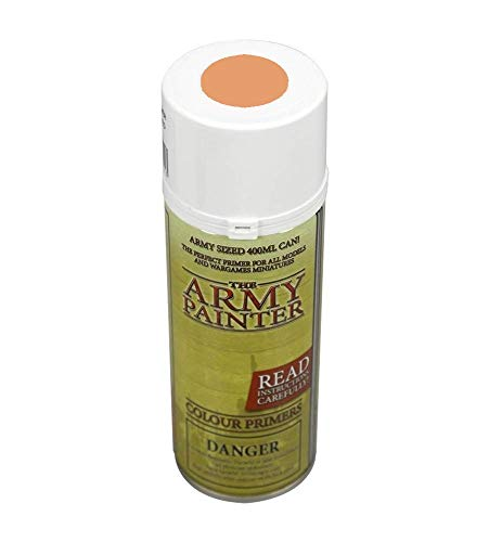 The Army Painter Color Primer, Barbarian Flesh, 400 ml, 13.5 oz - Acrylic Spray Undercoat for Miniature ()