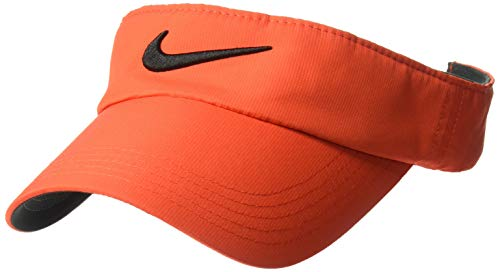 Nike Unisex Golf Visor, Dri-FIT & Adjustable Sun Visor for Women and Men, Habanero Red/Anthracite/Black