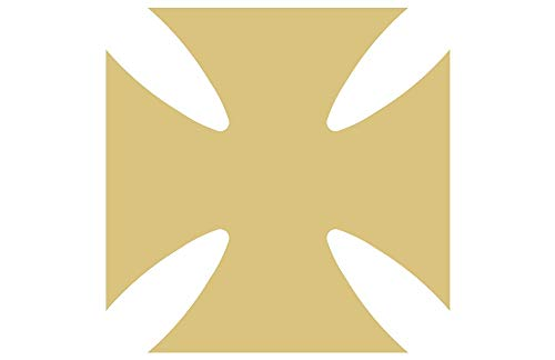 Maltese Cross Cutout Unfinished Wood Medal Biker Rustic Knights of Malta MDF Shape Canvas Style 2 (6