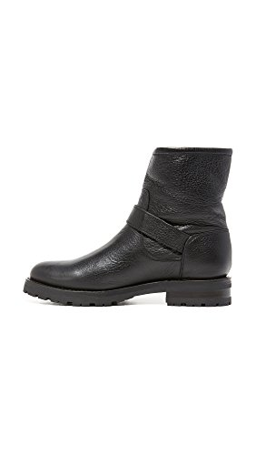 Short Shearling Boot Women's FRYE Engineer Lug Natalie Black Winter XqEzwPp