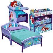 Unique Disney Little Mermaid Storage Toy Box Containers and Chest Organizer Bins for Kids Pet Toys, Cars and Accessories - Children Home Box Units Solutions