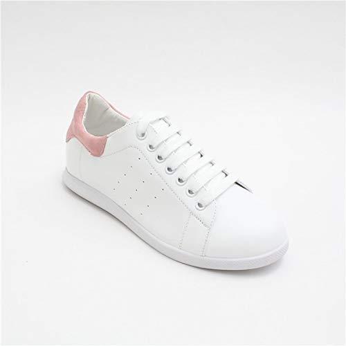 Summer Mujer Leather Sneakers Pink Black de Spring Comfort Pink Heel Nappa amp; Flat Zapatos ZHZNVX pqA0Ra