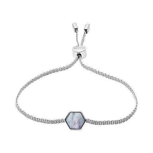 Skagen Women's Anette Silver-Tone Mother of Pearl Bracelet, One - Bracelet Silver Skagen