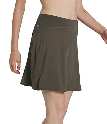 slimour Women Print Golf Skirt Travel Skirts with Pockets Swim Skirt High Waist with Shorts