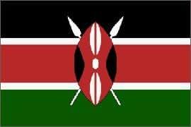 Kenya–3'x 5' Polyester bandera