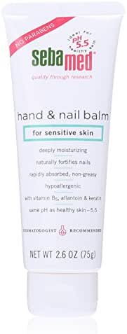 Sebamed Hand and Nail Balm pH 5.5 for Sensitive Skin Hypoallergenic Non-greasy Dermatologist Recommended Moisturizer 2.6 Fluid Ounces (75 Milliliters)