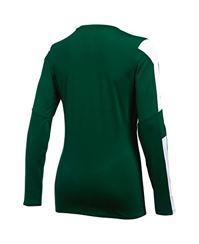 Under Armour Womens UA Block Party Long Sleeve Jersey Forest Green/ White/ White