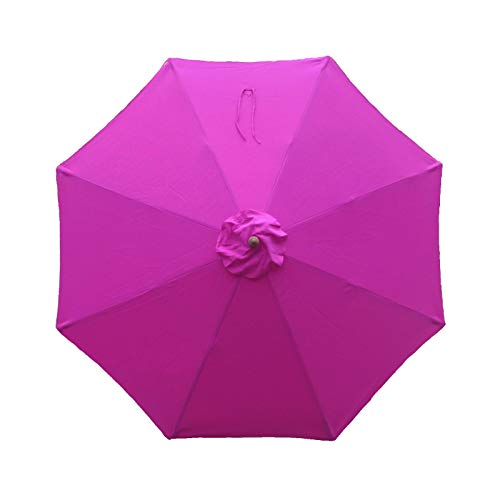 Formosa Covers 9ft Umbrella Replacement Canopy 8 Ribs in Fuchsia HOT Pink, Canopy Only