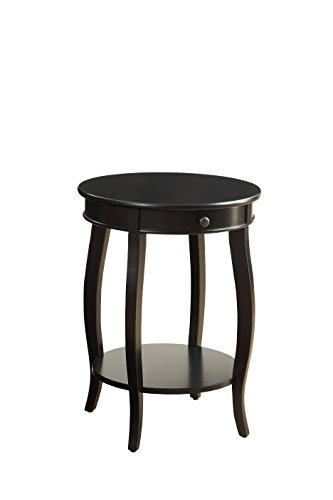 Acme Furniture Acme 82812 Alysa Side Table, Black, One Size (1 Drawer Side Table)