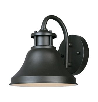 Bronze 1 Light 7in. Wall Lantern from the Bayport Collection