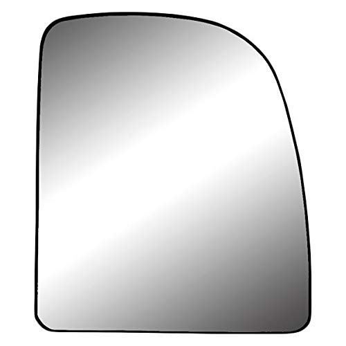 Replacement Passenger Side Mirror Glass with Backing Plate (Non-Heated) Fits Ford E-series: Cutaway Van/Stripped Chassis For Power Mirror