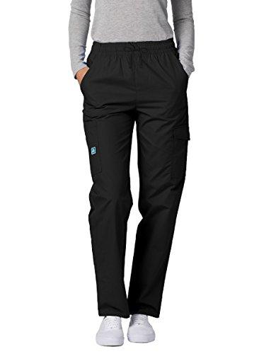 Adar Universal Natural-Rise Multipocket Cargo Tapered Leg Pants - 506 - Black - ()