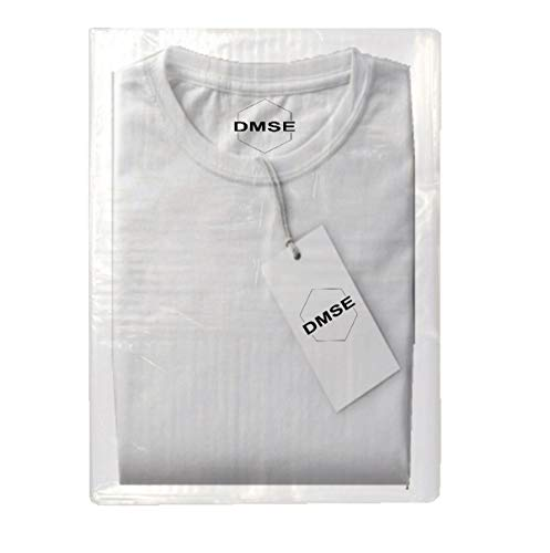"DMSE T Shirt Flap Lock Poly Clear Plastic 1.5mil Clothing Merchandise Bags Pants 9 x 12""/ 12 x 15"" Inch for Shipping Easy to Pack and Close Multiple Sizes and Quantities Available (100QTY - 9X12) from DMSE"