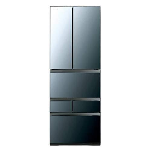 東芝 461L 6ドア冷蔵庫(クリアミラー)TOSHIBA GR-R460FZ-XK   B07N5ZCN93