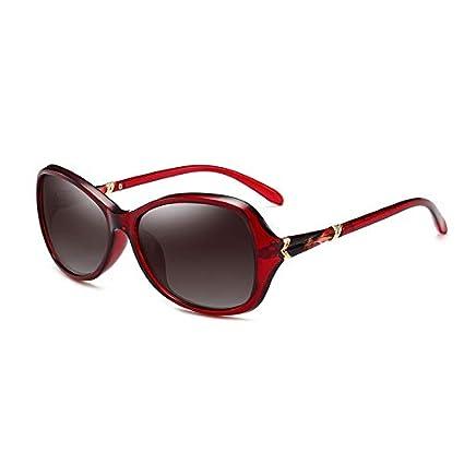 Sunglasses- Cara pequeña Gafas de Sol Hembra Cara Gafas polarizadas Hembra Elegante Caja pequeña Gafas