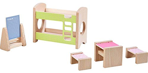 HABA Little Friends Kid's Room - Dollhouse Furniture for 4