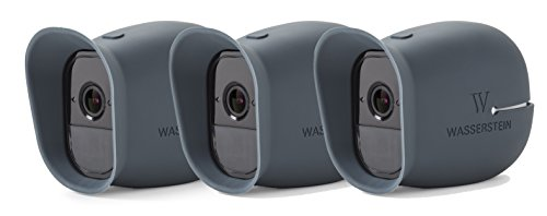 3 x Silicone Skins for Arlo Smart Security - 100% Wire-Free Cameras by Wasserstein ... (Arlo Pro, 3 x Blue)