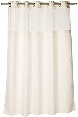LAGUTE SnapHook Bathroom Shower Curtain with Snap-in Liner Removable 71/'/'x 74/'/'