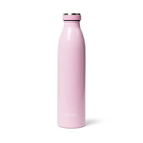 Vanity Planet Splash Vacuum Insulated Stainless Steel Reusable Water Bottle, 750mL, Pucker-up Pink