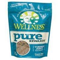 Wellness Pure Rewards All-Natural Delicious Venison Jerky Bits Dog Treats  (Pack of 3)