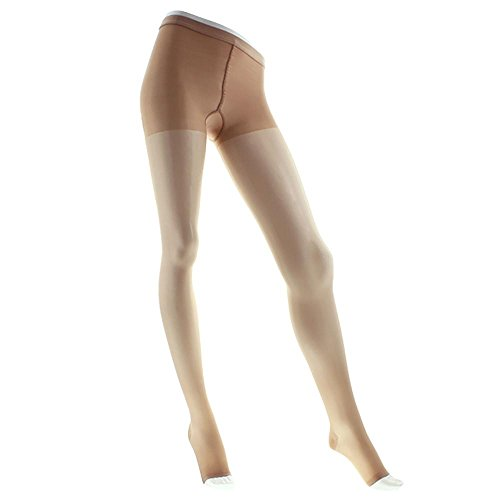 Venosan Legline Open Toe Pantyhose - 15-20mmHg Nude Queen Plus VL258NU ()