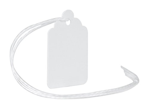 MACO White Strung Merchandise Tags, 2-1-3/32 x 3/4 Inches, 1000 Per Box (12-207) by Maco (Image #2)