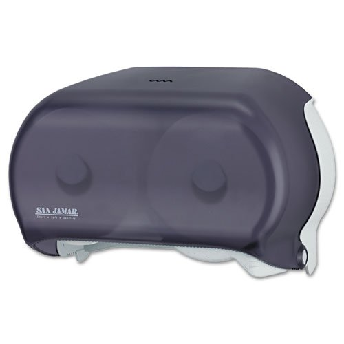 Tissue Dispenser Versatwin Standard - San Jamar VersaTwin Standard Tissue Dispenser, 2 Roll, 12-1/4 x 5-3/4 x 8-1/4, Black Pearl - Includes one each.