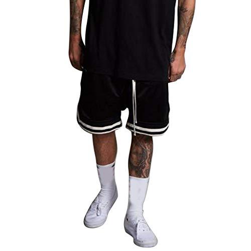 Nevera Men Summer Vintage Retro Design Basketball Sports Running Shorts Black ()