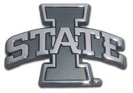 (Elektroplate Iowa State University Cyclones I State Logo Chrome Plated Premium Metal NCAA College Car Truck Motorcycle)