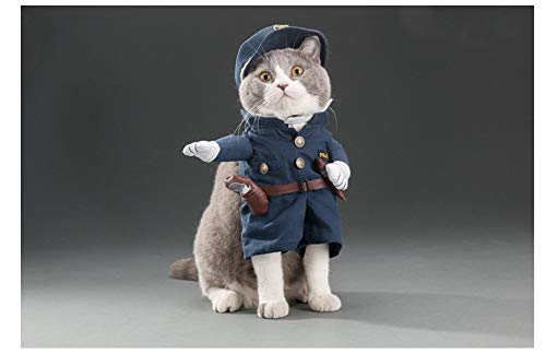 Do4Pets Pets Costumes Dressing up Your Dogs and Cats, Halloween Outfit, Party Apparel, Christmas Suit, Special Events Coat,Funny Pets Clothes (Police, Medium (for 11LB-17LB Pets))