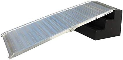 WORHAN® Rampa de Carga 400kg Rigida Robusta Plegable Plataforma Silla de Ruedas Aluminio Superficie Ultra Antideslizante HR7