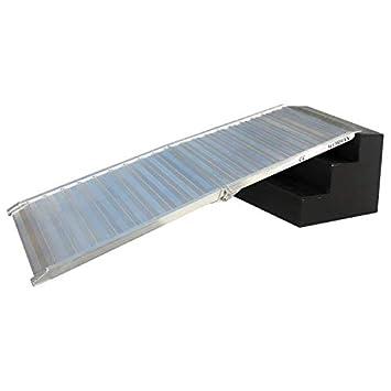 WORHAN® Rampa de Carga 400kg Rigida Robusta Plegable Plataforma Silla de Ruedas Aluminio Superficie Ultra Antideslizante HR7: Amazon.es: Electrónica